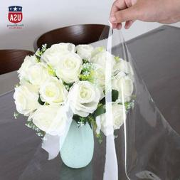 5.56 Waterproof PVC Clear Tablecloth Transparent Protector D