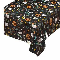1.37m x 2.6m Happy Halloween Party Flannel Back Lined Tablec