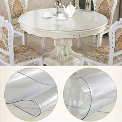 1.5mm Matte Clear PVC Table Cover Protector Round Tablecloth