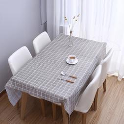 1 Pcs Plaid <font><b>Table</b></font> Cloth Waterproof Oil-p