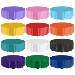 "10/20pcs 84"" Round Plastic Table Cover Cloth Heavy Duty Tabl"