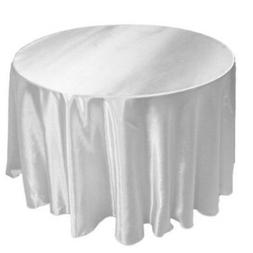 """15 Pack 120"""" Inch round Satin Tablecloth 21 COLORS Table Cov"""