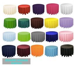 "10 120"" inch ROUND Polyester Tablecloth Table Cover WEDDING"