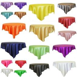 10 Pc Square Satin Tablecloth Table Covers For Wedding Party