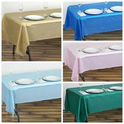 "10 pcs 54 x 108"" Disposable Plastic Rectangular Table Cover"