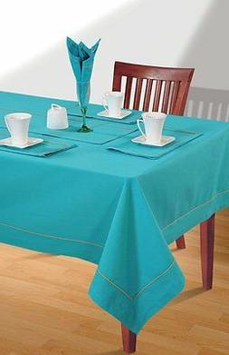 100% Cotton Tablecloth Rectangular Square Table Plain Table