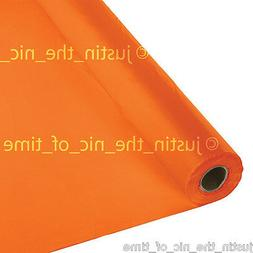 100ft ORANGE PEEL Plastic Buffet Banquet Roll Party Table Co