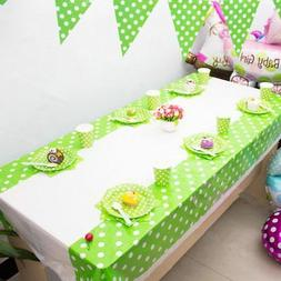 108*180CM Polka Dots Colors Plastic Table Cover for Birthday