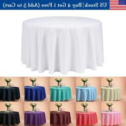 """108"""" Inch Round Tablecloths Table Cover for Wedding Parties"""