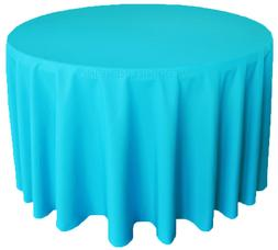 """Wedding Linens Inc. 120"""" Round Polyester Tablecloth Party Ta"""