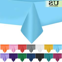 """10pcs 54"""" x 108"""" Rectangle Plastic Tablecloth Table Cover We"""