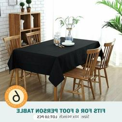 10PCS Dining Tablecloths 30X96 Inch Rectangular Table Cover