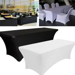 10PCS Spandex Stretch Tablecloth Folding Table Cover Rectang