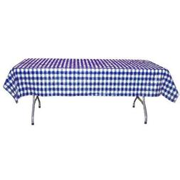 12-Pack Printed Dark Blue Gingham Checkerboard plastic table