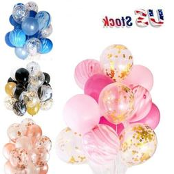 "12"" Confetti letax balloons wedding birthday party decoratio"