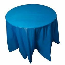 """12-Pack 84"""" Disposable Plastic Round Tablecloth Table Covers"""