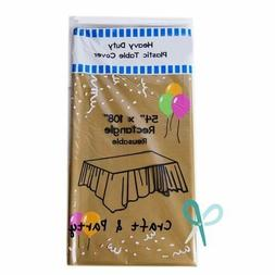 """Heavy Duty Plastic Table Covers Tablecloth  (Rectangle 54"""""""
