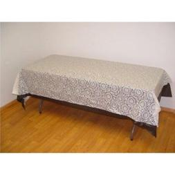 12-Pack Exquisite Plastic Tablecloth 54in. x 108in. Rectangl
