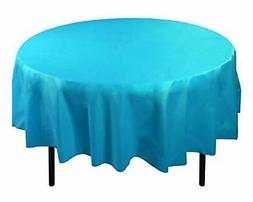 Exquisite 12-Pack Premium Plastic Tablecloth 84in. Round Tab