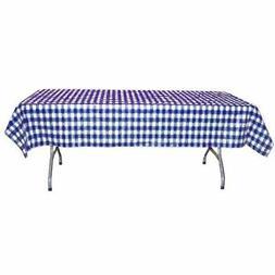 12-Pack Printed Dark Blue Gingham Checkerboard plastic table