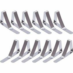 12 Packs Tablecloth Clips Stainless Steel Table Cover Clamps