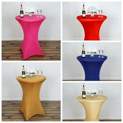 """12 pcs 36"""" Cocktail SPANDEX Fitted Table Covers Tablecloth W"""