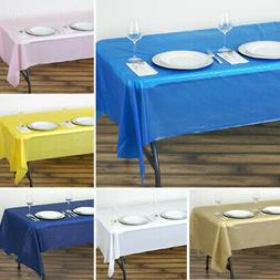 "12 pcs RECTANGLE 54x108"" Disposable Plastic TABLE COVERS Tab"