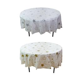 "12 Plastic Party Table Cover-84"" Round- Disposable Tableclot"