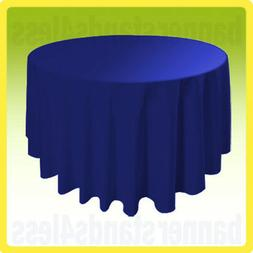 "120"" ROYAL BLUE Round Table Cover Tablecloth Wedding Banquet"