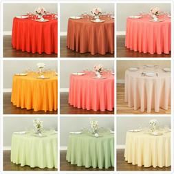 LinenTablecloth 108 in. Round Polyester Tablecloths, 33 Colo