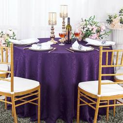 "Wedding Linens Inc. 120"" Round Damask Jacquard Polyester Tab"