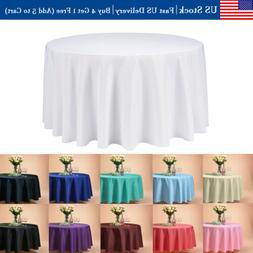 """VEEYOO 120"""" Round Tablecloth Linen Table Cover for Buffet Pa"""