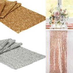 """12x108"""" Glitter Sequin Table Runner Sparkly Wedding Table Co"""