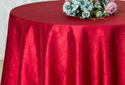 "Wedding Linens Inc. 132"" Taffeta Crinkle Crushed Round Table"