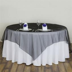 135x135cm Organza Sheer Tablecloth Square Table Cloth Covers