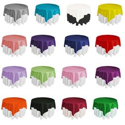 145x145cm Square Satin Tablecloth / Table Cover Overlay Poly