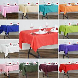15 Seamless 126x60 inch Rectangular Polyester Tablecloth Tab