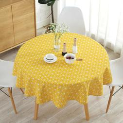 150cm Home Table Cover Party Tablecloth Round Cotton Linen C