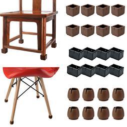 16 Pc Silicone Chair Leg Cap Feet Pad Table Cover Anti-slip