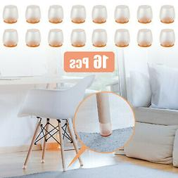 16Pack Silicone Chair Leg Caps Feet Pads Furniture Table Cov