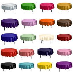 1pcs 145cm Round Satin Tablecloth <font><b>Table</b></font>
