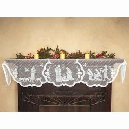 1pcs Christmas Lace <font><b>Tablecloth</b></font> Virgin Ma