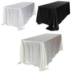 1pcs Satin Tablecloth Rectangular Hotel Banquet <font><b>Tab