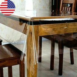 1Pcs Tablecloth Clear Plastic Waterproof Transparent Duty Di