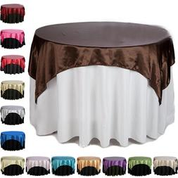 1x Square Satin Fabric Tablecloths Wedding Table Cover Cloth