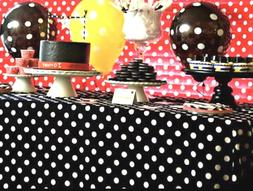 2 Mickey Mouse Polka Dot Table Covers Birthday Party Decorat