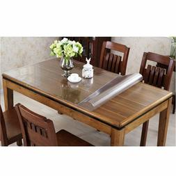 1.5-mm Thick Crystal Clear PVC Table Cover  Desk Pads Mats D