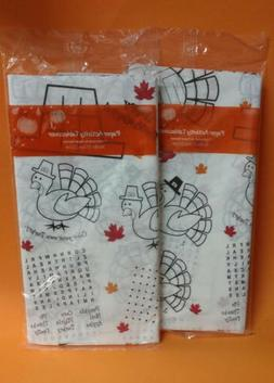 2 Pack - Thanksgiving Activity and Coloring Paper Tablecover