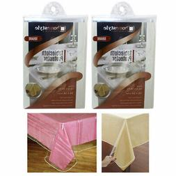 2 Pc Window Clear Tablecloth Protector Heavy Duty Vinyl Easy