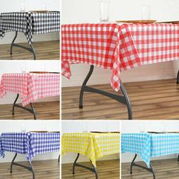 "6 pcs RECTANGLE 54x72"" Checkered Disposable Plastic TABLE CO"